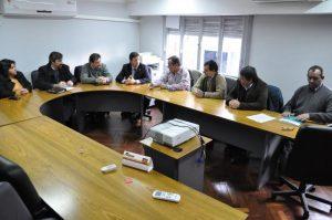 Reunión de directores de Iosper con senadores.