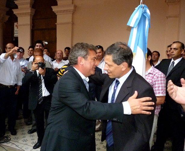 Sergio Urribarri y Pedro Báez.