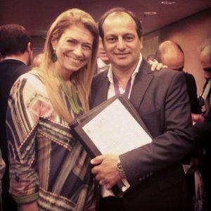 Robles, junto a la exministra K Débora Giorgi.