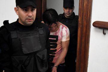 Gualeguay 06 de Octubre de 2017 Sebastian Wagner ingresa a los Tribunales de gualeguay parala lectura de los alegatos sobre el femicidio de Micaela Garcia.- Foto: JUAN JOSE GARCIA