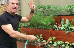 urri regando plantas